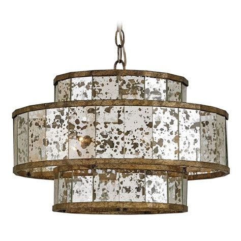 Currey And Company Lighting Fantine Pyrite Bronze Raj Mirror Pendant Light