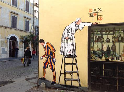 film sui misteri del vaticano pop art pope wins graffiti game of peace cns blog