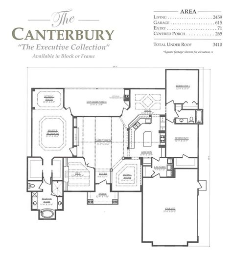 canterbury floor plan canterbury floor plan canterbury a 3 bedroom 2 bath home in build on your lot a