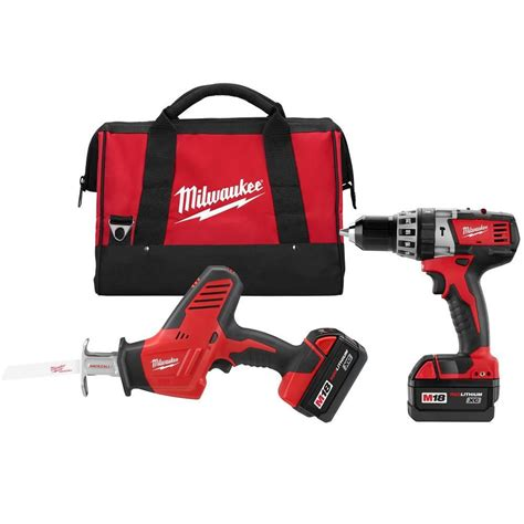 milwaukee tool 18v m18 cordless combo kit the home depot