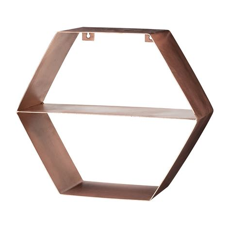 Hexagon Shelf by Buy Bloomingville Copper Hexagonal Shelf Amara