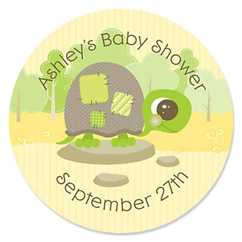 personalized baby shower labels baby turtle personalized baby shower sticker labels 24