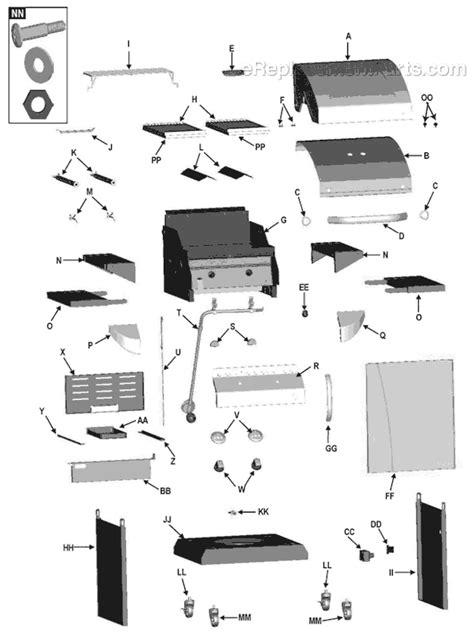 char broil parts diagram char broil 463243911 parts list and diagram