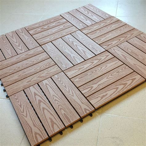 pavimenti in piastrelle n 176 11 mattonelle per pavimento in wpc cm 30x30 legno
