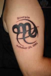 scorpio zodiac symbol tattoo