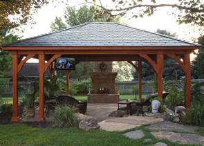 Outdoor Gazebo Plans by Gazebo Plans With Fireplace Homesfeed