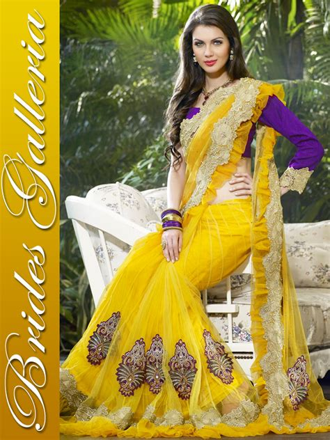 indian latest delightful embroidery saree collection   fashion