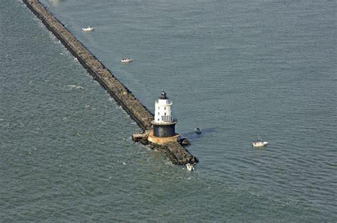 boat slip lewes delaware harbor of refuge lighthouse in lewes de united states