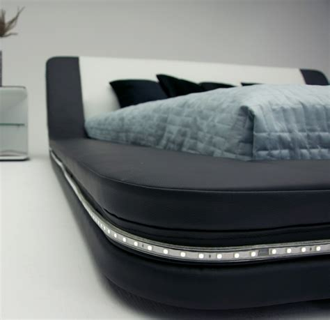 Led Bed Lights by Marquee Eco Leather Platform Bed W Led Lights