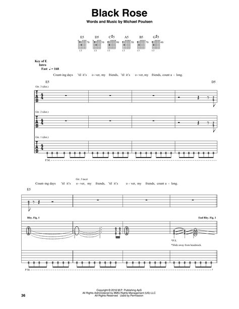 black tab black guitar tab by volbeat guitar tab 173471