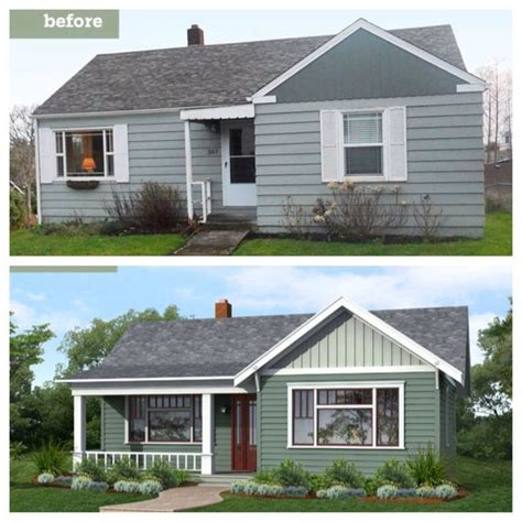 adding a window to a house before and after curb appeal add front porch expand windows create curvy walkway