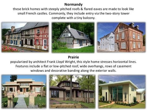 what are the different styles of houses types of house