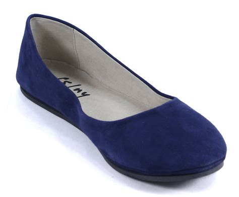 blue suede flat shoes sole ny sloop navy blue suede leather ballet flats