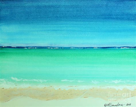 Turquoise Home Decor by Caribbean Ocean Turquoise Waters Abstract Painting By