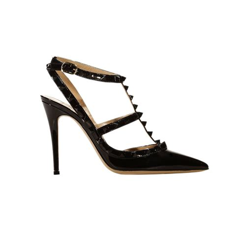 valentino shoes valentino shoes heel 10 rockstud patent with studs in