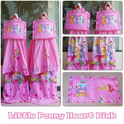 jual mukena anak karakter pony pink size s