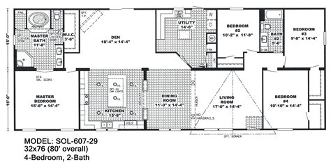 18 x 80 mobile home floor plans 18 wide mobile home floor plans
