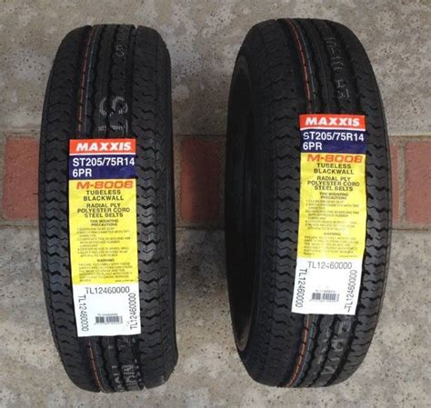 maxxis boat trailer tires 2 new trailer tires maxxis m 8008 st205 75r14 bloodydecks