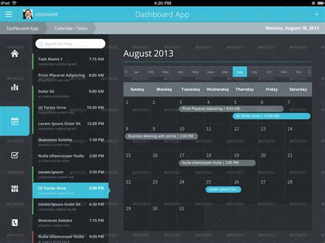 ipad ui pattern gallery flat ipad ios tablet app dashboard by joelferrell