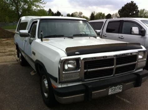 auto body repair training 1993 dodge d250 electronic toll collection purchase used 1993 dodge d250 le standard cab pickup 2 door 5 9l in broomfield colorado united