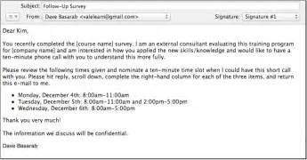 doc 778652 email survey template sending out a better