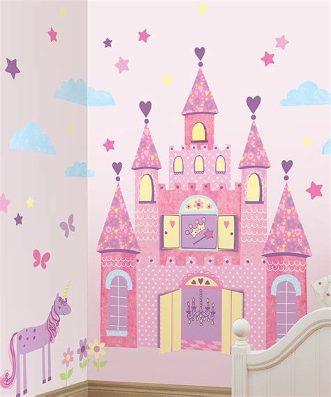 castle wall stickers purple princess castle wall decal set