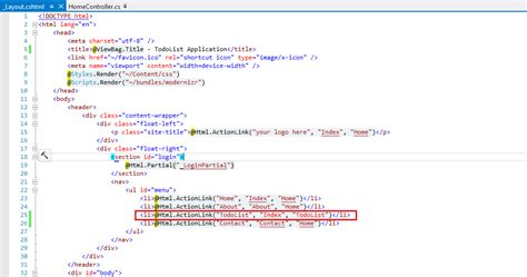mvc layout html action dileepashok s blog asp net mvc 4 entity framework and