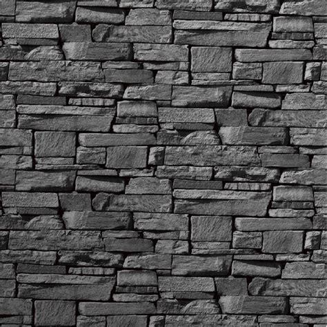 wallpaper for walls stone grandeco dax dry stone wall slate brick effect vinyl