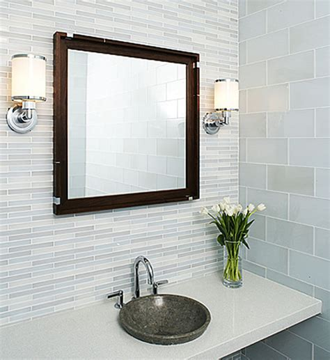 tiling ideas for bathrooms tempo glass tile modern bathroom by interstyle