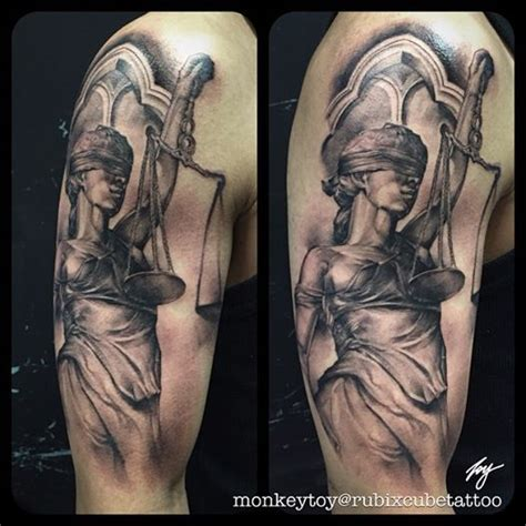 angel justice tattoo lady of justice tattoo blackandgrey by toy rubixcube