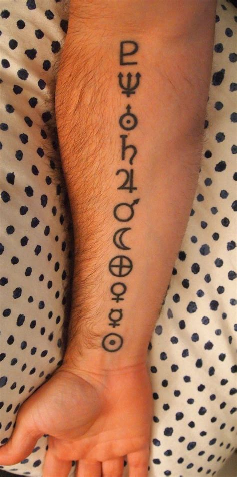solar system tattoo astronomical symbol each represents the planets