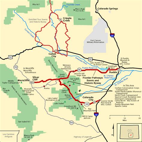 americas byways frontier pathways scenic and historic byway map