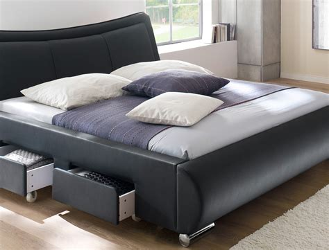 günstige schlafzimmer komplett mit lattenrost und matratze polsterbett lando bett 180x200 cm schwarz mit lattenrost
