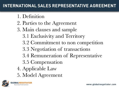Agreement Letter Meaning In international sales representative agreement template
