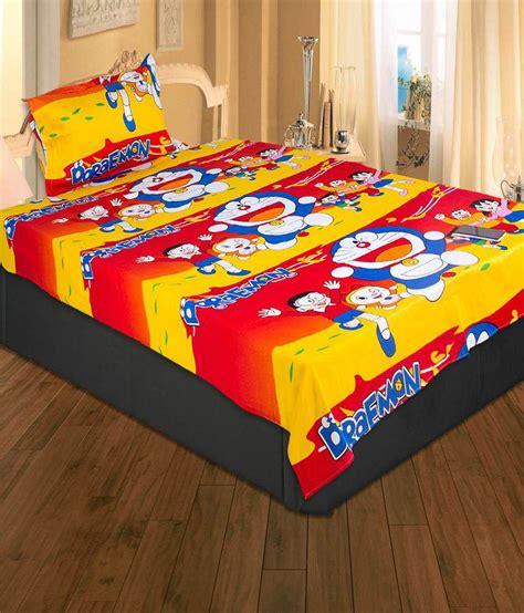 Set Bed Cover Doraemon Murah 1 ecraftindia doraemon single bedsheet with 1 pillow