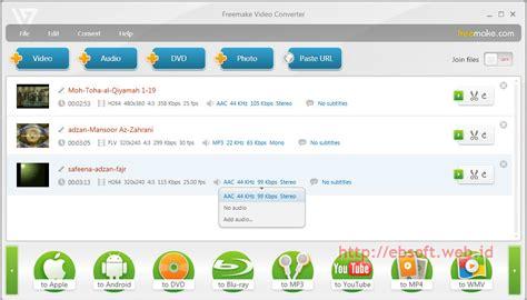 converter ukuran konversi video gratis dengan freemake video converter