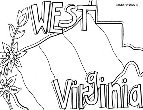 west virginia coloring page by doodle alley usa