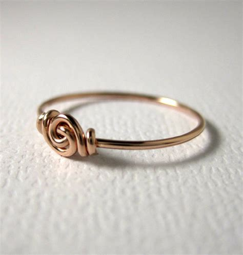 promise ring knot ring for tiny fingers by