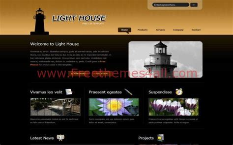 house black free css template