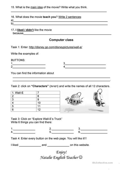 wall e movie questions by nicole duhr teachers pay teachers wall e worksheet environmental science wall best free