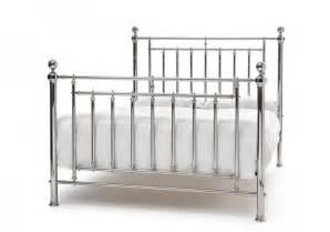 Steel King Size Bed Frame Serene Solomon 6ft King Size Nickel Metal Bed Frame By Serene Furnishings