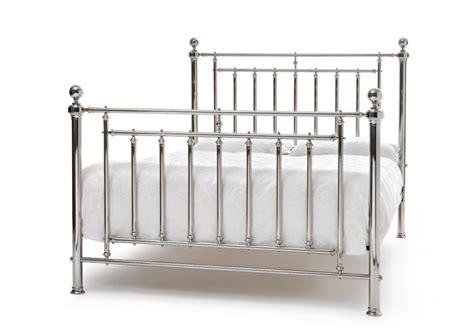 King Size Metal Bed Frames by Serene Solomon 6ft King Size Nickel Metal Bed Frame