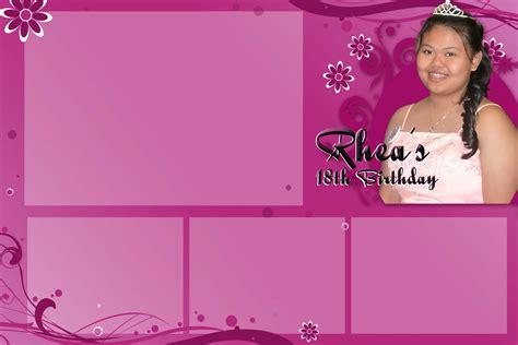 photo booth layout design for debut custom templates lettrato