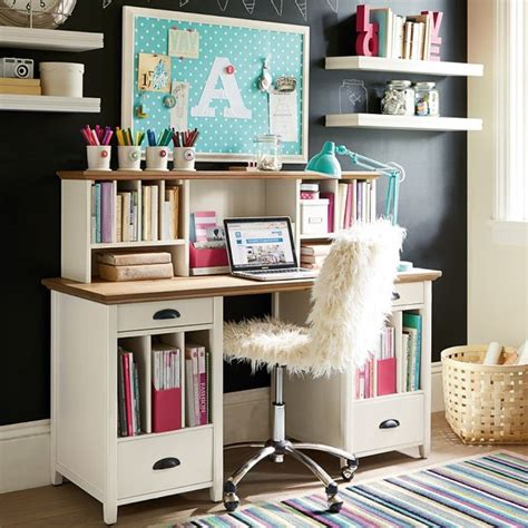 desk for teenager chatham large pedestal desk hutch