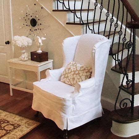 how to make a wing chair slipcover list of several tutorials for wingbacks sewing pinterest