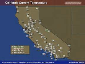 weather maps california california temperature map air sports net