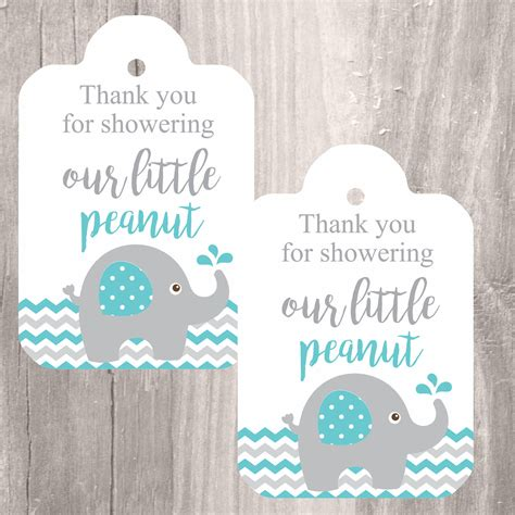 printable elephant gift tags elephant printable tags instant download teal elephant