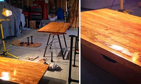 sitting standing desk diy adjustable standing desk from steel pipe ikea countertop