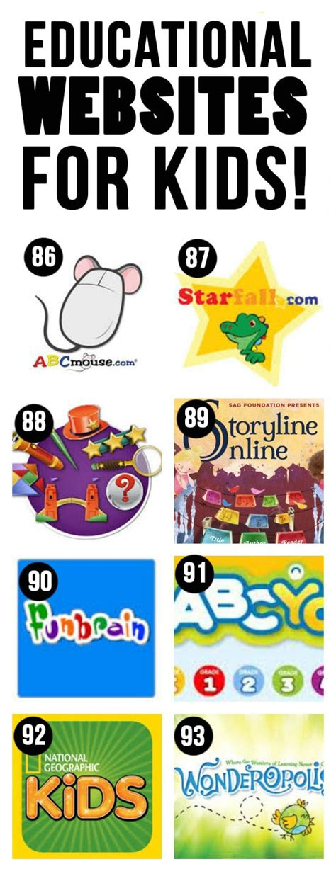 100 of the best apps youtube channels websites for kids
