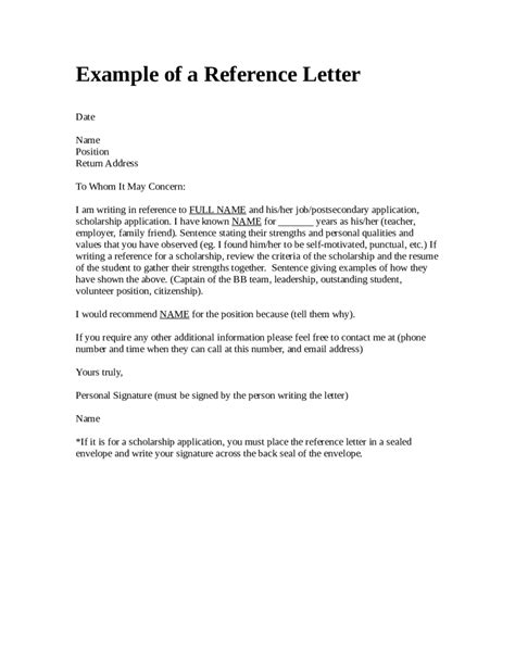 examples of character references simple imagine reference letter
